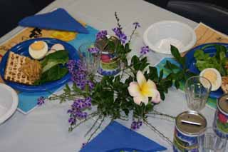 Mount Sinai Seder Table